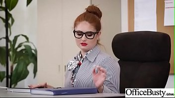 Hot Sex In Office With Big Round Boobs Girl (Lennox Luxe) Video-17
