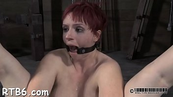 Gagging blow job movie - Gagged beautys snatch is being drilled viciously by hard rod