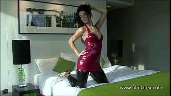 Man latex swim wear High heel beauty aimees sexy black latex and softcore babe posing in fetish wear