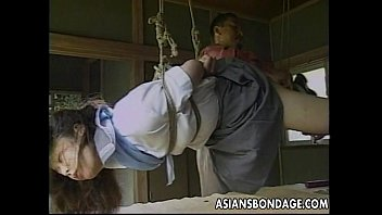 Roped neck bondage partners - Sexy little asian girl gets tied up and teased by her partner