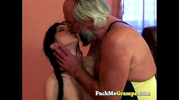 Teen whore Amber does old man