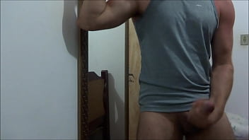 Young man wanking