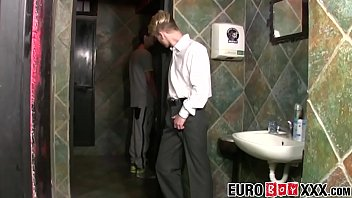 Twinks blonde smooth Innocent twinky bare fucked in restaurant toilette