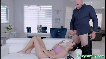Big tits stepdaughter MJ Fresh fucked by big dick stepdad's brother