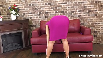 Britney is amazing to watch whether it is a solo scene or hardcore banging! This time the busty blonde plays with her dildo and trimmed pussy!