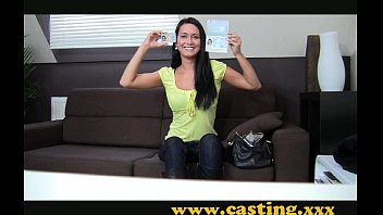 Casting - Beautiful brunette gets perfect body plastered in cum