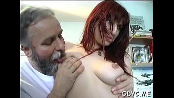 Shameless redhead darling Jessica with great natural tits in extreme sex