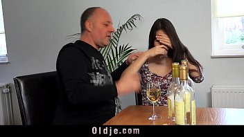 Hot brunette teen and old italian guy femdom playing
