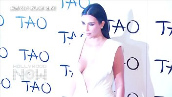 Kim Kardashian BOOBS Burst Out Of Her Top   For cover of NEW SELFIE book thumbnail