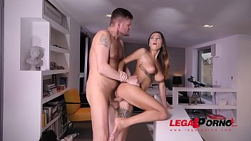 Outstanding busty glamour babe Liya Silver gets her shaved pussy drilled GP577