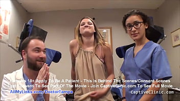 """""""Locking Up A Broad"""" Smuggler Alexandria Riley's Caught & Electro Shock Interrogated By Officer Lilith Rose & Doctor Tampa On CaptiveClinic.com"""