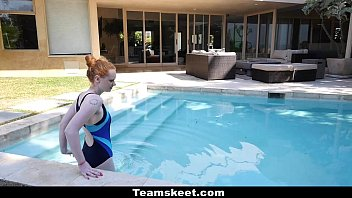 Cfnmteens - Pale Redhead (Ruby Red) Fucked By The Swimming Coach