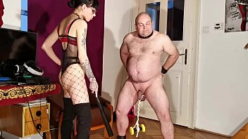 Goth reality porn Goth domina painful cbt bellypunch her fat slave pt2 hd