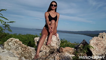 Greatest outdoor finger self masturbation in tropical area until shaking orgasms for your pleasure – PassionBunny