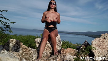 Greatest Outdoor Finger Self Masturbation In Tropical Area Until Shaking Orgasms For Your Pleasure   PassionBunny