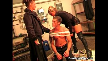 Twin Sisters Play Bondage With This Man