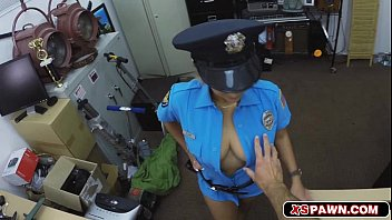 Lovely busty security babe getting fucked