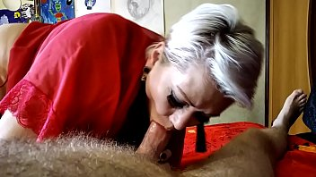 Mature russian blonde milf AimeeParadise is Queen of blowjob .!.