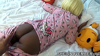 Slow Motion Sleeping Step Sister , In Pink Hello Kitty Pajamas , Brown Ass And Pussy Pulled Down By Pervert Step Brother , Jerking Off Big Dick On Her Big Innocent Butt Msnovember Reality Porn