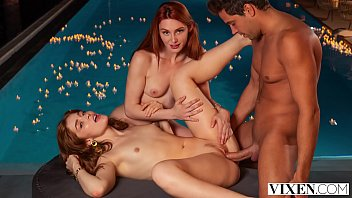 VIXEN Gorgeous redheads seduce bartender while on vacation
