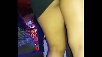 wife fucks at the disco with super short dress without pantyhose