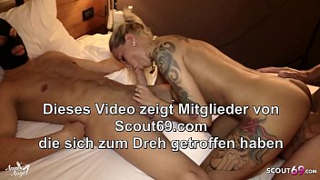 First Anal DP Sandwich for German Teen Hooker Anni Angel 7 min