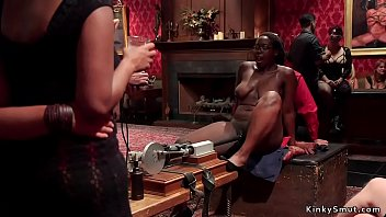 Anal ebony slut banged at bdsm orgy Vorschaubild