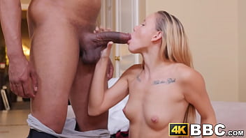 Young babe caught using toys punished with interracial fuck