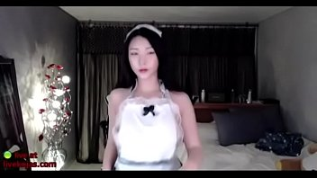 Busty Korean Maid Shows Off Her Big Sexy Ass