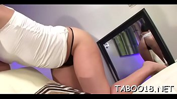 Fascinating brunette babe gives a spicy footjob to lucky dude thumbnail