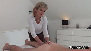 Unfaithful british milf lady sonia flashes her monster titties