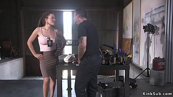 Huge tits parole officer Krissy Lynn informs Mr Pete his parole is revoked then she turns the table and in bondage anal fucks her