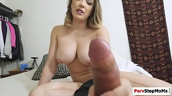 Stepmom showed stepson hot to masturbate