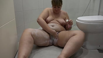 Hairy pussy or shaved cunt Vote Mature BBW shaves her big pussy and fat thighs and juicy ass And she washes in the shower Homemade fetish