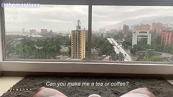POV my new Roommate Fucks me in the Big Window with Full View to my Neighbors Mariana Martix 8 min