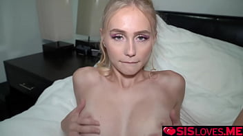 Alicia Williams fucked up her stepdad's car and her stepbrother Johnny who is paying for the repairs just wants to fuck her as payment.