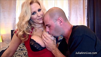 Hot Blonde Wife, Julia Ann, gets drilled by her hung hubby... and his friend! Watch this hot mamma slurp & bang them dry of milk in this nasty MMF trio! Full Video & Julia Ann Live @ JuliaAnnLive.com!