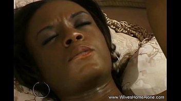 Ebony MILF Fingered And Masturbate Pussy Using Orange Sex Toy