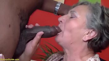 Grandma blowjob movies - Chubby 80 years old mom first interracial sex