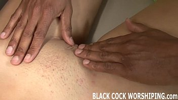 His big black cock is going all the way up my ass