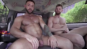 Hairy bearded gay free Bait bus - eddy ceetee takes jacob petersons str8 bait big dick up his gay ass