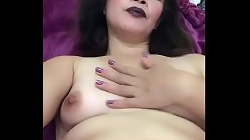 Slut Asian mummy plays with pussy for the son to watch