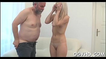 Old amature porn Horny juvenile babe screwed by old guy