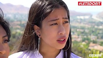 LETSDOEIT - Big Ass Teen Asians Are Fucking Their Customer By The Pool (Ember Snow & Jade Kush)