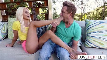 LoveHerFeet - Stunning Young  Blonde Gives a Hot Foot Fuck