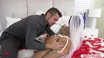 TS Foxxy gets anal by her new Husband