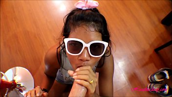 Chews asian beaver heather havoc Hd tiny thai teen oriental teen get huge facial on glasses