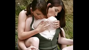 Tanya song & Marie big boobs natural in the Woods