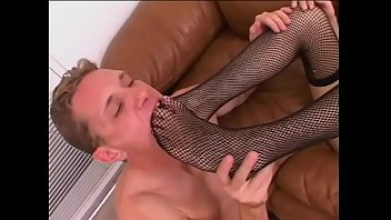 Kevin M. has a foot fetish and sexy Antonette can give a pro footjob