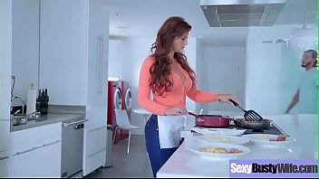 (Syren De Mer) Housewife With Big Juggs Love Intercorse On Camera Clip-26